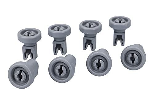 8 x DL-pro Rollo de cesta ruedas 25 mm para la cesta superior del lavavajillas para AEG Electrolux 5028696700/0 50286967000 5028696700