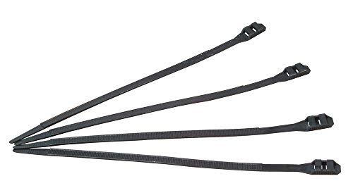 Kopp 328504093 Kabelbinder, hohe Zugfestigkeit, 15 Stück, 300 x 9 mm, schwarz