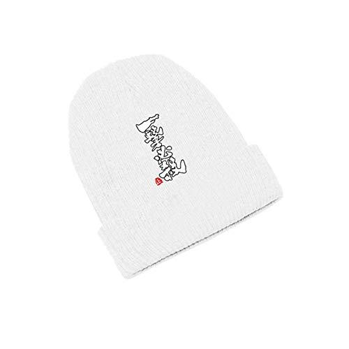 Lklik Unisex Anime One Punch Mann Oppai Saitama Beanie Baumwolle Gestrickt Ski Skullies Cap Winter Cosplay Hut Warmes Mädchen Valentinstag Geschenk, Weiß