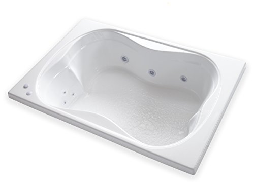 Carver Tubs - TMS7248 - Heated 12 Jet Whirlpool - 72'L x 48'W x 18'H - White Drop In Two Person...