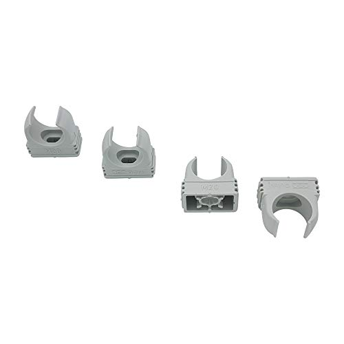 30x OBO Bettermann M20 Quick-Schellen | Klemmschelle | Rohrschelle | anreihbar | lichtgrau | 20mm | 30 Stück