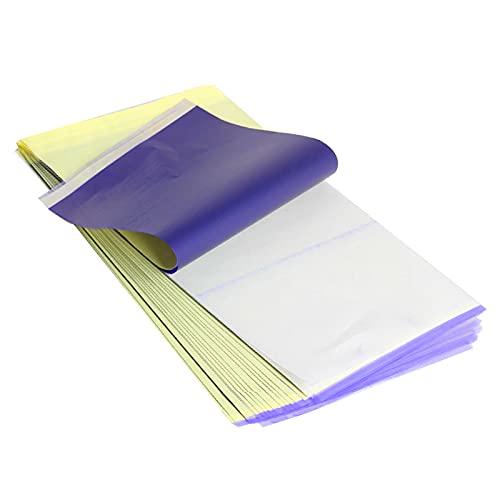 LuLyL 20 Carta di trasferimento del tatuaggio fogli di carta termica per modelli di tatuaggio A4, utilizzata per trasferire il disegno sulla pelle