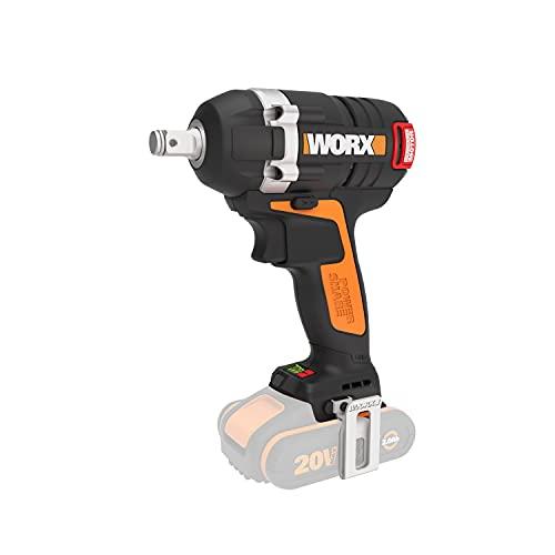 WORX WX279.9 Bürstenloser Akku Schlagschrauber 20V - 300Nm, mit variablem 3-Gang-Getriebe und LED-Licht - ideal für diverse Schraubarbeiten – Ohne Akku und Ladegerät