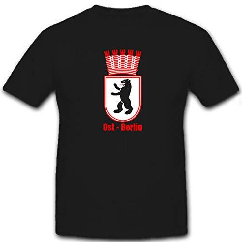 Ost Berlin Hauptstadt Deutschland Bär Stadtwappen Wappen - T Shirt #12212, Größe:XL, Farbe:Schwarz