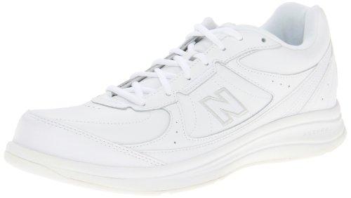 New Balance Men's 577 V1 Lace-Up Walking Shoe, White/White, 10