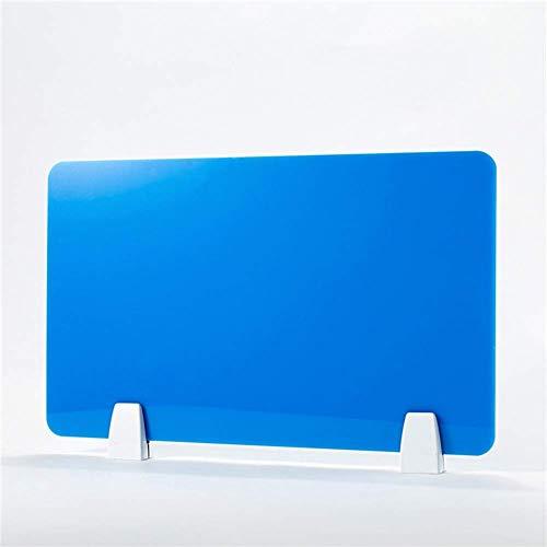 DLYDSSZZ Büro-Trennwand, Schreibtisch-Trennwand, Schutzschirm für Desktop-PC-Sichtschutz, Schreibtischschutz für Call-Centers, Bibliotheken, Klassenzimmer (Farbe: Blau, Größe: 16 x 16)
