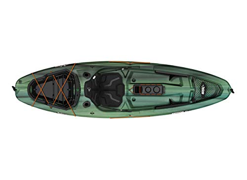 """Pelican Sit-on-Top Kayak - Sentinel 100X - 9.5 Feet - Lightweight one Person Kayak 5 A multi chine flat bottom hull ensures the stability needed when casting lines and reeling in fish. Measuring 9'6"""""""" and weighing only 44 lb, the SENTINEL 100X ANGLER is incredibly easy to transport and store Made using our patented Ram-X materials, the SENTINEL 100X ANGLER will be around for years of exciting experiences."""