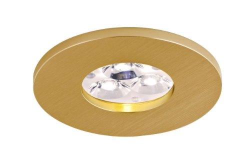 Bpm Lighting - Foco Empotrable Circular IP65 Ambientes Humedos, Color Oro Satinado