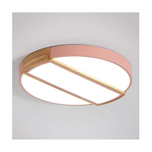 BBZZ Lámpara de techo nórdico macaron LED regulable acrílico madera hierro decoración dormitorio infantil estudio cocina lámparas de techo iluminación profesional