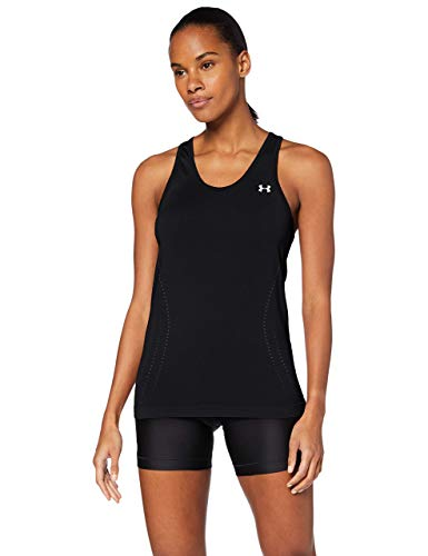 Under Armour Seamless Tanque, Mujer, Negro, MD