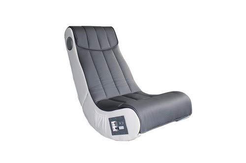Avanti Trendstore-Sessel Musik weiß/grau aus Kunstleder mit Lautsprecher Surround und Subwoofer ca. 55x 98x 84cm