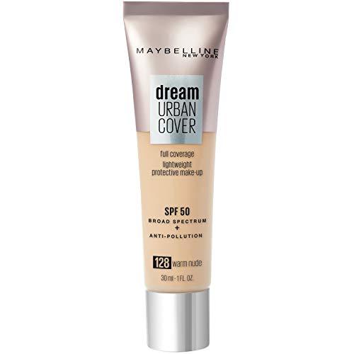 Maybelline New York - Perfecteur de Teint - Protection Anti-UV & Anti-Pollution - Dream Urban Cover - Teinte : Beige Doré (128) - 30 ml