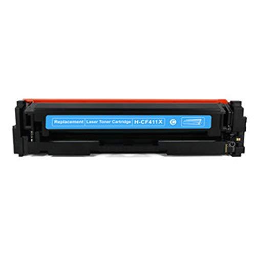 AXAX Cartucho de tóner compatible CF410X para HP Color Laserjet Pro M452DW 452NW 452DN 477FNW MFP 477DW (impresión lisa), color cian