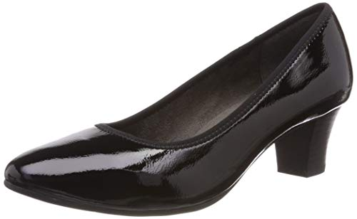 Jana Softline Damen 8-8-22463-22 Pumps, Schwarz (Black Patent 018), 39 EU