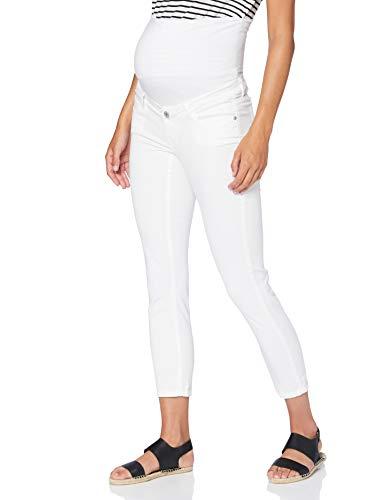 Supermom Damen Jeans OTB Skinny 7-8 Umstandsjeans, Weiß (Optical White P175), W33 (Herstellergröße: 33)