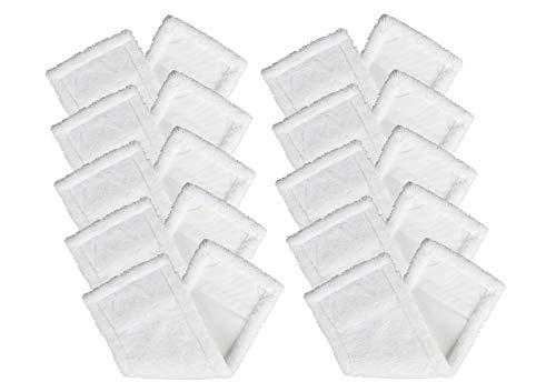 BELLANET Wischmopp Set Wischbezüge, 12x41 cm für alle gängigen 40cm Klapphalter, Profi Aufnehmer für Haushalt, Küche oder Bad 10 STK. weiß