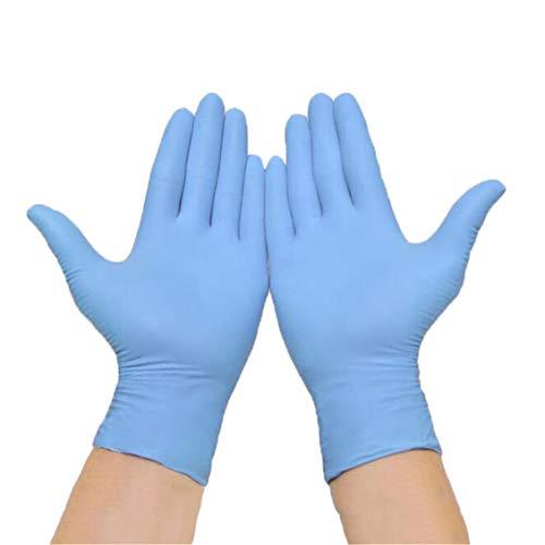 Guanti monouso in Nitrile, Protezione, può Toccare Lo Schermo, Uso in Cucina, Pulizia della casa, Riparazione Meccanica, Scatola da 100 Pezzi (Azul,XL)