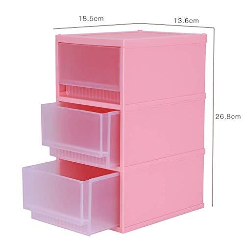 BOX Cosmétique Transparente En Plastique Boîte de Rangement de Bureau Multi-Couche Type de Tiroir Rouge À Lèvres Bijoux Soins de La Peau Produits de Stockage D'Affichage Boîte (Taille: 18,5 × 13,6 ×