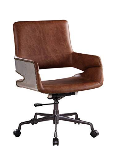 ACME Kamau Office Chair - - Vintage Cocoa Top Grain Leather