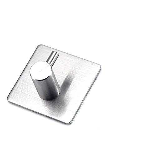 MSRRY Ganchos de baño Aptos for Puerta de Cocina Perchas de Pared Ganchos de Pared Colgador Autoadhesivo Toalla Toalla Gancho 304 Acero Inoxidable 5PCS (Color : Silver)