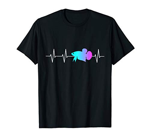 Mein Herz schlägt Betta - Kampffisch Splendens Heartbeat T-Shirt