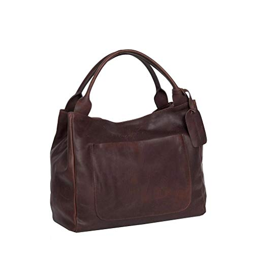 The Chesterfield Brand Cardiff Handtasche Leder 35 cm brown