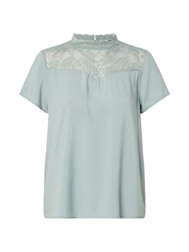 ONLY Damen ONLFIRST SS LACE TOP NOOS WVN  Bluse T-Shirt,  Chinois Green, 40