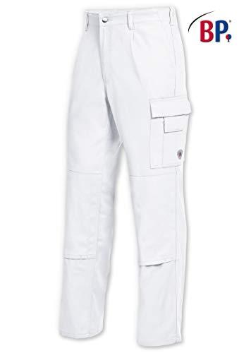 BP werkbroek 1486 060 21 heren in wit van puur katoen Kleur: wit Maat: 52