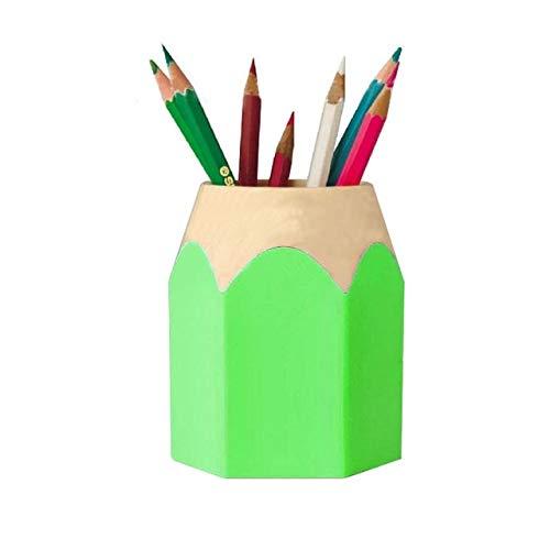 SHW 2 STKS Kunststof Multifunctionele Potlood Vorm Pen Houder Verwijderbare Studenten Levert Dual-Use Ronde Pen Houder (Rood) Mooie kunst, Groen