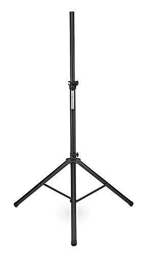 Pronomic SPS-1S Boxenstativ Stahl (Boxenstativ aus Stahl, stabile, extra breite Dreibein-Konstruktion, 120-193 cm, auch als Dartstativ oder Fotostativ verwendbar) schwarz