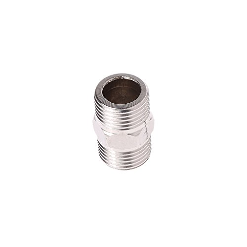 jackyee Stainless Steel Wire Thread of 4 Points 1 / 2 'Male x 1 / 2' Male Nipple Hexagonal Stainless Steel SS304 Threaded fitting for NPT pipe