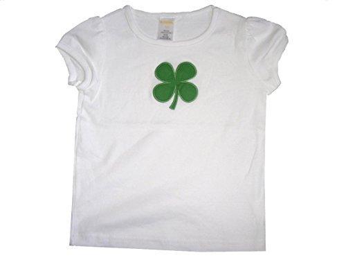 Camiseta de Gymboree Brand de algodón blanco de camiseta de manga corta con juego de objetivos verde en la parte superior y diseño de flores. Tamaño de la funda de: 3 años
