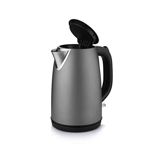 Hervidor eléctrico hogar 304 acero inoxidable hervidor de agua de cocina cocina de gran capacidad tetera pequeño calentador de agua (1.7L) calentador de agua