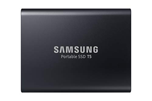 New SAMSUNG T5 Portable SSD 1TB - Up to 540MB/s - USB 3.1 External Solid State Drive, Black (MU-PA1T0B/AM).