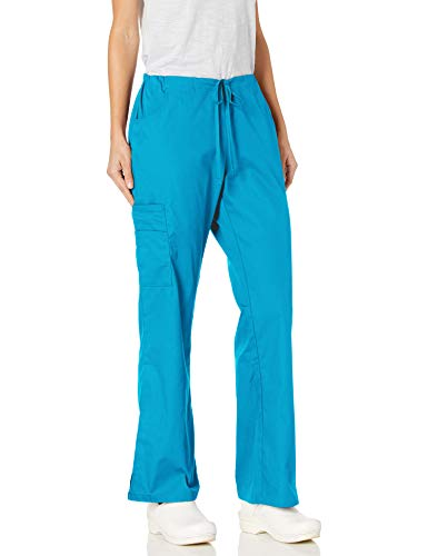 Dickies Damen Mid Rise Drawstring Cargo Pant Medizinische Scrubs Hosen, Out of The Blue, Groß