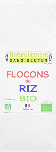 NATURELLEMENT SANS GLUTEN Flocons de Riz Bio 350 g - Lot de 4