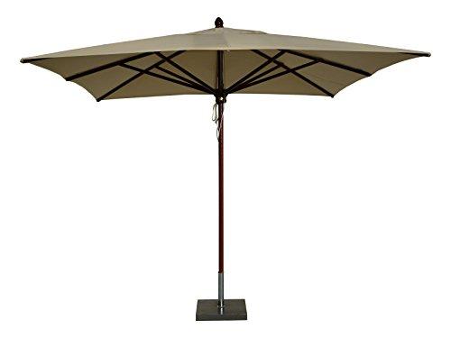 Maffei Art 153Q Timbers Parasol carré en Bois cm. 300X300. Fabriqué en Italie. Couleur Ecru
