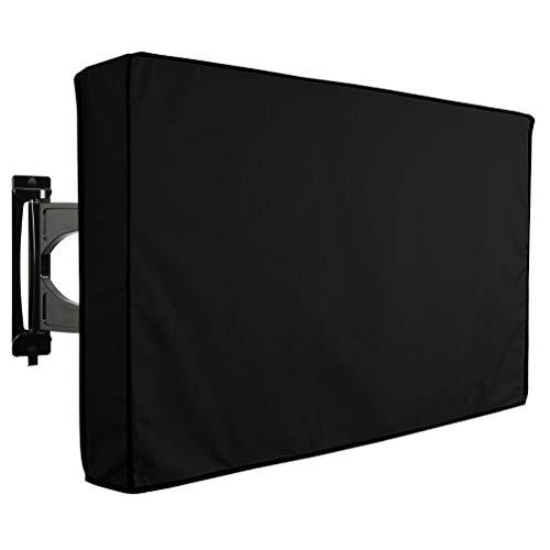 Asiacreate Outdoor TV Abdeckung, universeller wasserdichter Schutz für Flachbildfernseher, 46-48 Zoll, schwarz