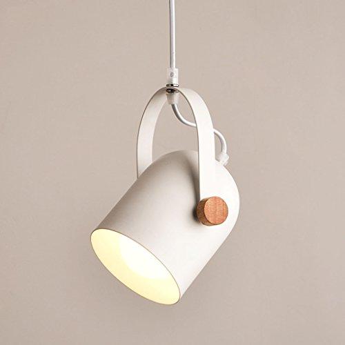 Luminaires suspendus Lumière suspendue en bois d'éclairage accrochant le bureau de lustre de plafond en bois et en métal de bande, table à manger, lampe de pendule de salle d'étude (Couleur : 1 head)