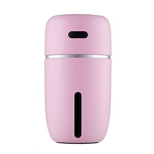 HW Humidificador Aromaterapia Ultrasónico, Difusor de Aceites Esenciales, Seguro y Elegante, purificar el Aire y mejorara el Aire seco y sofocante, Dormitorio, hogar, Oficina, Coche etc,Pink