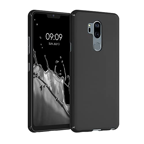 kwmobile Carcasa Compatible con LG G7 ThinQ/Fit/One - Funda móvil de Silicona - Protector de TPU en Negro Mate