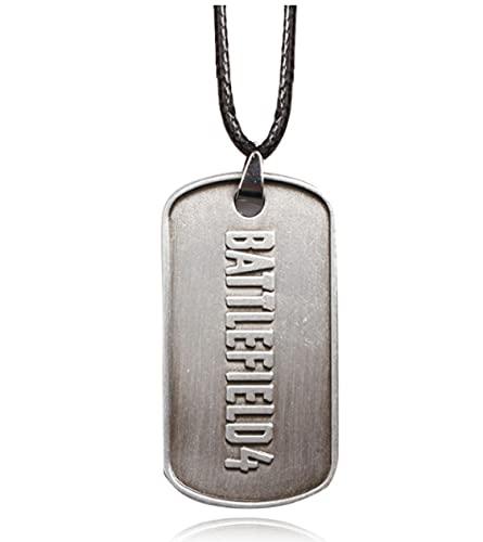 Battlefield4Letter Logo Dog Tag Collar JuegoBf4Collar Colgante Hombres Y Mujeres Joyas Juego De Rol Accesorios Periféricos
