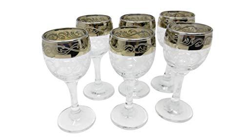 6 Bicchieri da liquore - Ideali per Grappa, Cognac, digestivi