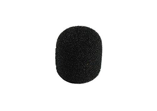 Monacor WS-20 Mikrofon-Windschutz aus schwarzem Schaumstoff für Mikrofone mit Ø 12-14 mm