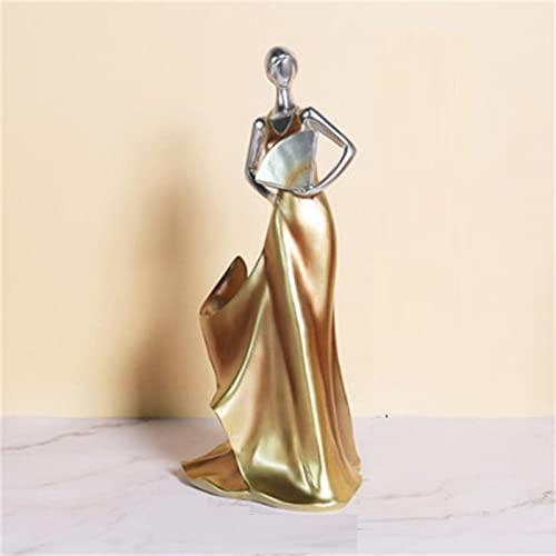 HUANYINGNI Botelleros Porta Vino con Esculturas, Porta Botellas De Vino Independientes Forma De Mujer Regalos para La DecoracióN del Hogar De La Cocina Oro
