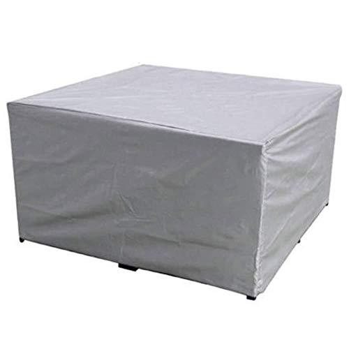 YOUSHENG Rechthoekige tuintafel en stoelmeubelhoes, krasbestendig anti-UV waterdicht en stofdicht deksel, voor terrasmeubelen set eettafel bank stoel, zilver