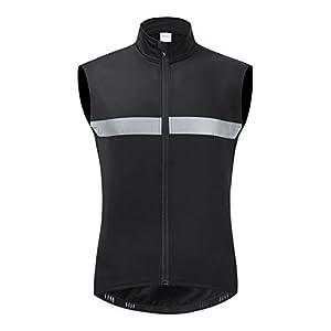 メンズサイクリングジレ ウォームフリースノースリーブサイクリングジャケット ランニング通気性ジレ,A,L