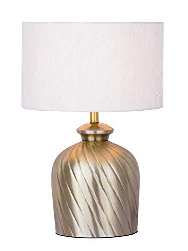 Tafellamp bedlampje ø 30 x H 52 cm tafellamp decoratieve lamp metalen voet goud zilver