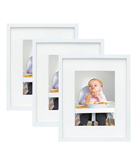 Set de 3 Marcos 15 x 21 cm con Paspartu para Fotos 10 x 15 cm, Blanco
