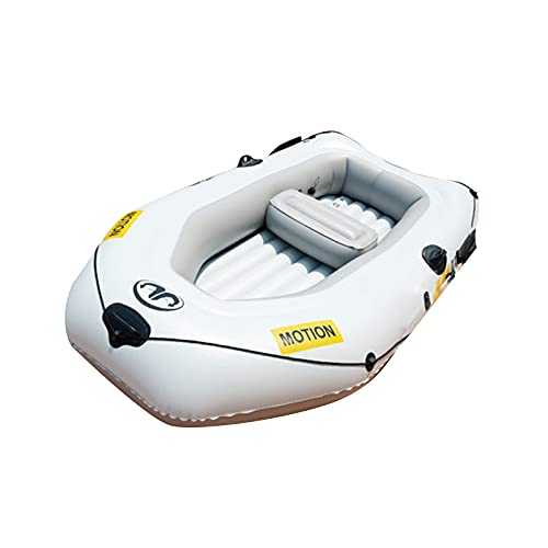 Gaoweipeng Inflatable Kayak Foldable Touring Fishing Boat Portable Dinghy Thickened Canoe Raft Safety Stability Hovercraft Dinghies Casual 2 People Drifting Boat,255131cm with Electric Motor -  328-785-684